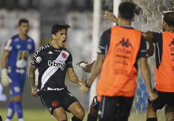 13º - Santos 2x2 Vasco - Campeonato Brasileiro 2020. Cano marcou de pênalti um dos gols do empate na Vila Belmiro.