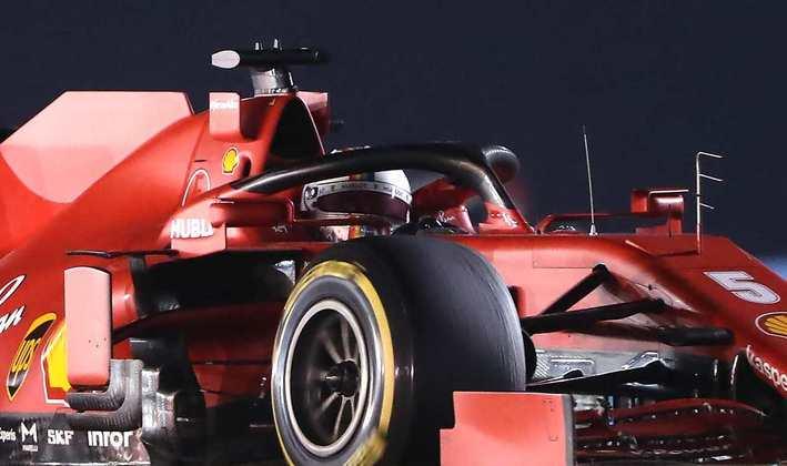 13 - Sebastian Vettel (Ferrari) - 3.10: Difícil até de notar que estava na pista.