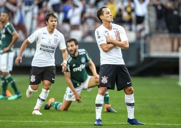 13/5/2018 - Corinthians 1 x 0 Palmeiras - 5ª Rodada Brasileirão-2018: Com mais um gol de Rodriguinho, o Timão bateu o (outra vez) apático Verdão na Arena corintiana. Dérbi ficou marcado pelas embaixadinhas de Romero, com a cabeça, no fim do jogo