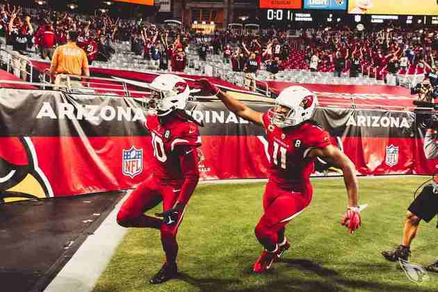 14° Arizona Cardinals - Jogo pro alto e reza! Após recepção miraculosa de Hopkins, os Cards sonham com playoffs e são um dos mais divertidos times de se acompanhar na NFL.