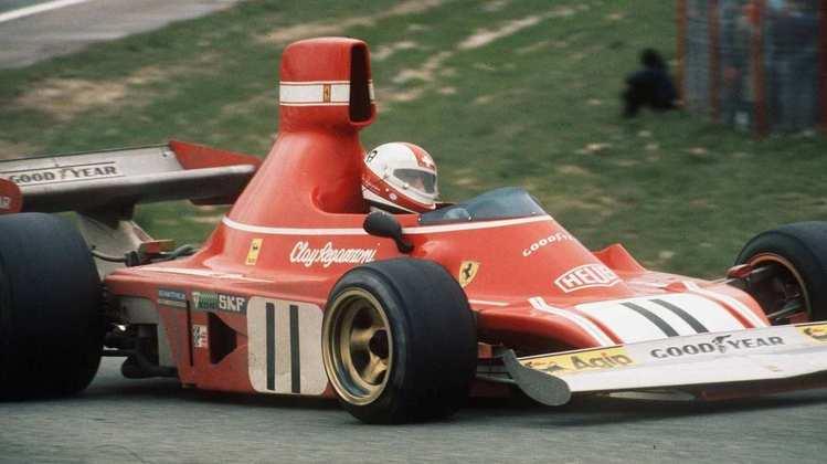 14 - Clay Regazzoni foi vice-campeão em 1974 e fechou sua passagem na Ferrari com 4 vitórias