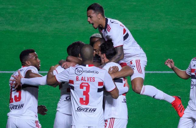 14º colocado - SÃO PAULO (18 pontos) - 16 jogos - Título: 0,083% - G6: 9,8% - Rebaixamento: 19,1%