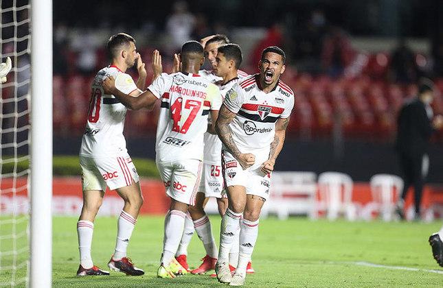 14° colocado - SÃO PAULO (29 pontos) - 24 jogos - Título: 0,001% - G6: 5,8% - Rebaixamento: 13,5%.