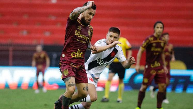 14º colocado – Sport (32 pontos/28 jogos): 0% de chances de ser campeão; 0.16% de chances de Libertadores (G6); 13.3% de chances de rebaixamento.