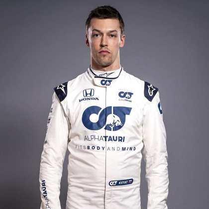 14º - Daniil Kvyat (AlphaTauri) - 14 pontos - Melhor resultado: 7º no GP da Toscana