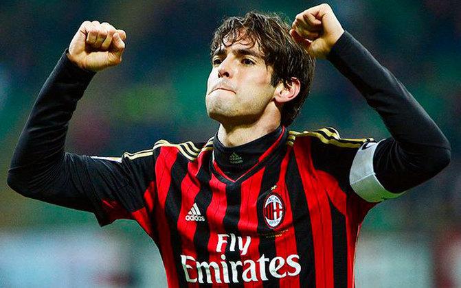 14 - KAKÁ - O Milan pagou R$ 54 milhões em 2004, mas vendeu por R$ 429 milhões ao Real Madrid: lucro de R$ 375 milhões