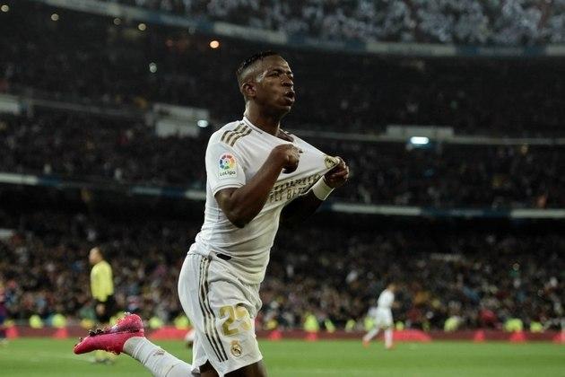 14º lugar: Vinícius Jr - Atacante - Brasil - Real Madrid - Valor: 40 milhões de euros (aproximadamente R$ 239,43 milhões)