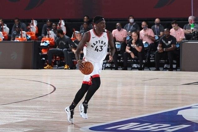 14- Pascal Siakam (Toronto Raptors) O astro camaronês fez, em 2019-20, sua melhor temporada da carreira, o que o levou para o Jogo das Estrelas pela primeira vez. Siakam está pronto para liderar o atual campeão da NBA nos playoffs depois de uma surpreendente campanha, mesmo sem Kawhi Leonard no elenco