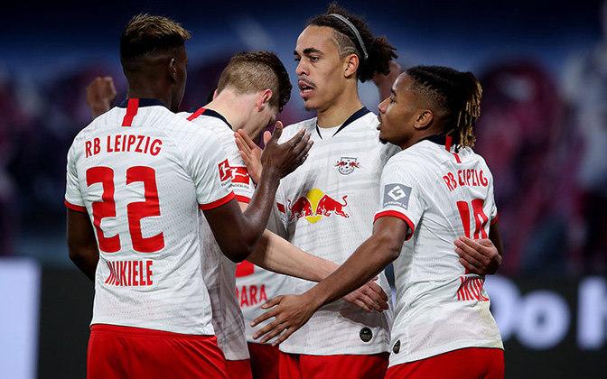 14º - RB Leipzig - Valor do elenco segundo o Transfermarkt: 560,5 milhões de euros (aproximadamente R$ 3,43 bilhões)
