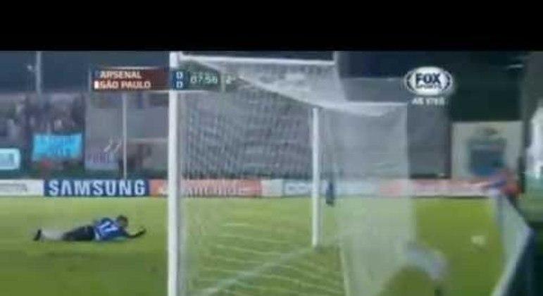 14/03/2013 – Arsenal de Sarandí 2×1 São Paulo (Libertadores 2013) - Pela fase de grupos, o Tricolor perdeu na Argentina. Braghieri e Ortiz fizeram para os hermanos, com Aloísio descontando.