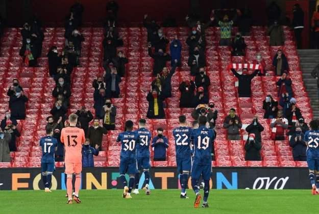 15º - Arsenal - Valor do elenco segundo o Transfermarkt: 553 milhões de euros (aproximadamente R$ 3,38 bilhões)