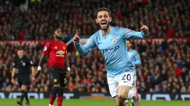 15º BERNARDO SILVA - veste a camisa do Manchester City. Valor de mercado:  € 70 milhões (R$ 447 milhões)