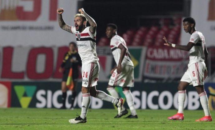 15º colocado – São Paulo (11 pontos) – 12 jogos / 0.10% de chances de título; 5.4% para vaga na Libertadores (G6); 34.2% de chances de rebaixamento.