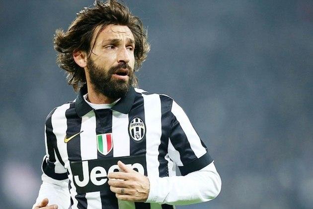 15º - Pirlo - 495 jogos -  Clubes que defendeu na Itália: Brescia, Inter de Milão, Reggina, Milan e Juventus