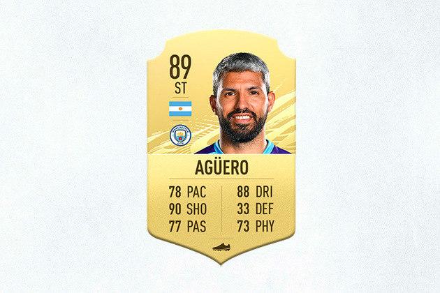 15- Sergio Aguero (Manchester City) - 89 de Overall - Aguero perdeu parte da temporada lesionado, mas sua nota 90 em finalizações o coloca entre os melhores centroavantes do jogo