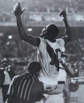15º - Silva - 22 gols - Silva, o Batuta, foi o grande herói do título carioca de 1970, encerrando um jejum de 12 anos sem conquistas do Vasco.
