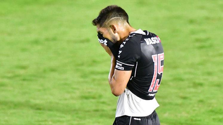 15 – VASCO: 12 pontos em 12 jogos. Três vitórias, três empates e seis derrotas. Dez gols marcados e dezenove sofridos. 33.33% de aproveitamento.