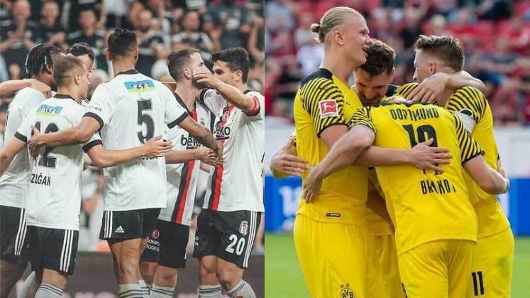"""15/09 (quarta-feira) - 13h45 - BESIKTAS X BORUSSIA DORTMUND - O Besiktas é o atual campeão turco após ter empatado em pontos com o Galatasaray e ficar com um gol a mais de saldo. A equipe tem três vitórias e um empate na atual edição da liga. Já o Borussia venceu a última Copa da Alemanha e começou bem a Bundesliga: está em terceiro com três vitórias e um empate. O clube conseguiu se blindar dos assédios ao craque Haaland e manteve o """"Cometa""""."""