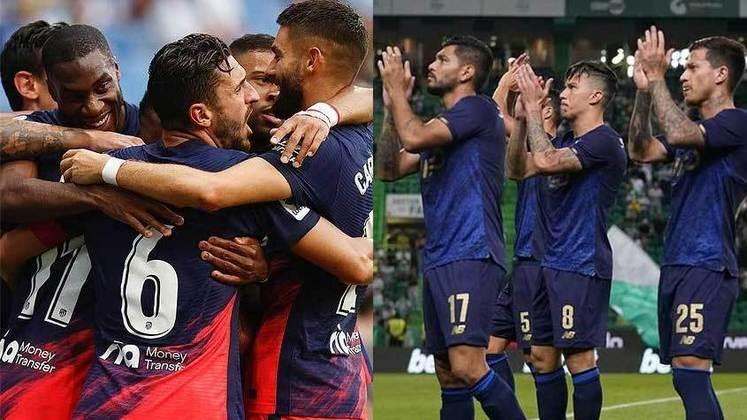 15/09 (quarta-feira) - 16h - ATLÉTICO DE MADRID X FC PORTO - Atual campeão do campeonato espanhol, o Atléti se fortaleceu para a temporada: contratou Griezmann, De Paul e Matheus Cunha e só perdeu Saúl. A equipe tem três vitórias e um empate em La Liga. O Porto manteve a base  do último campeonato português, contratou os brasileiros Wendell e Pepê e é o terceiro colocado na liga nacional, com três vitórias, um empate e 11 pontos, quatro atrás do líder Benfica.