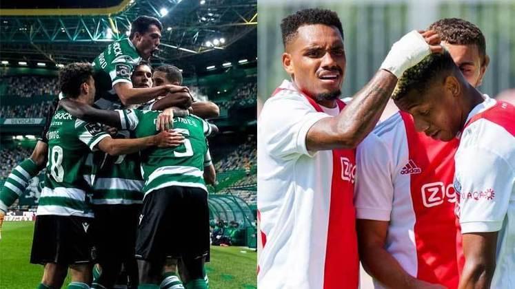 15/09 (quarta-feira) - 16h - SPORTING X AJAX - Em um confronto de atuais campeões de suas ligas nacionais, o Sporting é o vice colocado (com quatro pontos atrás do Benfica) no campeonato português com três vitórias e duas derrotas em cinco jogos, totalizando 11 pontos. O Ajax, equipe dos brasileiros Antony e David Neres, também é vice na liga nacional, com três vitórias, um empate e dez pontos (dois atrás do PSV).