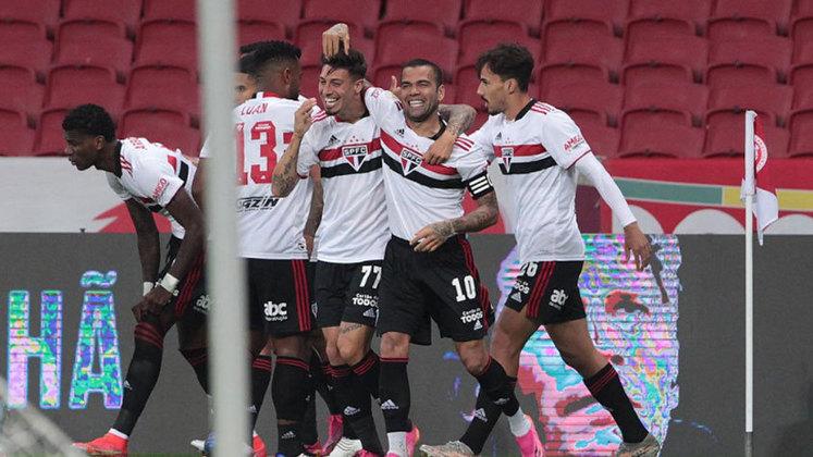 16º colocado – São Paulo (8 pontos) – 10 jogos / 0.17% de chances de título; 5.2% para vaga na Libertadores (G6); 39.9% de chance de rebaixamento.