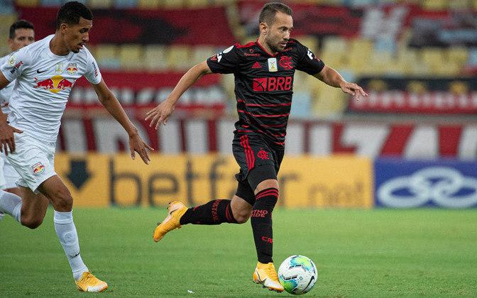 16º lugar: Éverton Ribeiro - Meia - Flamengo - 24 anos - Valor de mercado segundo o site Transfermarkt: 8,5 milhões de euros (aproximadamente R$ 54,71 milhões)