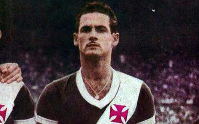 16º - Maneca - 21 gols - Um dos maiores artilheiros da história do Vasco e um dos destaques do Expresso da Vitória que brilhou no fim dos anos 40 e início de 50, Maneca é também um dos maiores goleadores do Vasco no Maracanã