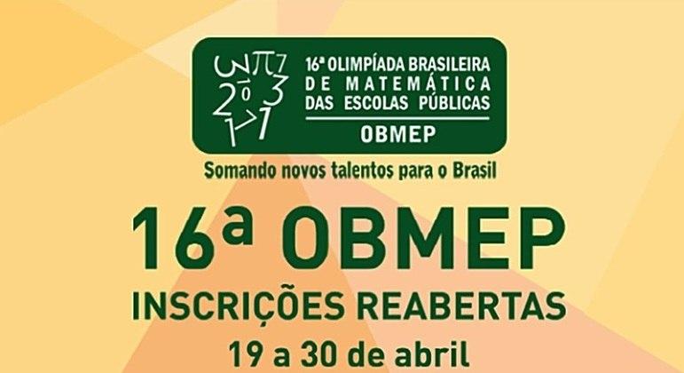 Inscrições para Obmep vão até esta sexta-feira (30)