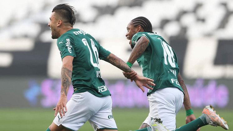16/5/2021 - Corinthians 0 x 2 Palmeiras - Neo Química Arena - Semifinal do Paulistão-2021: Outra vez com tranquilidade e amplo favoritismo, o Verdão confirmou os prognósticos e garantiu vaga na final com gols de Victor Luís e Luiz Adriano. Luan ainda desperdiçou um pênalti para o Timão.