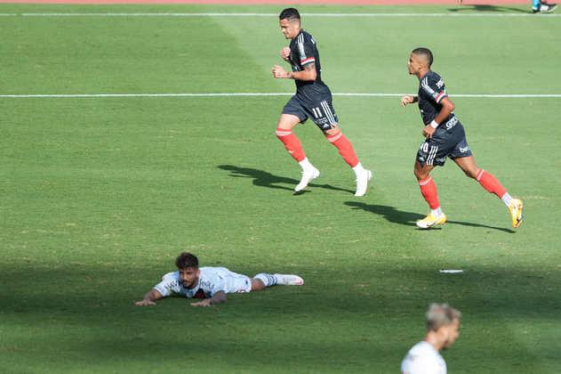 17º colocado – Vasco (24 pontos) – 0,030 de chances de título; 3,2% para vaga na Libertadores (G6); 28,7% de chance de rebaixamento.