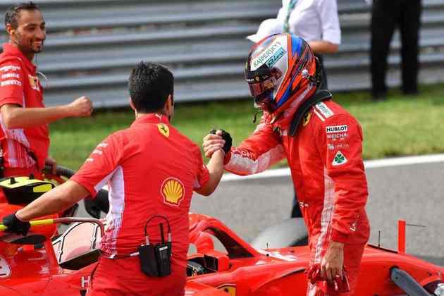 17 - Kimi Räikkönen, 18 poles, a última delas com a Ferrari SF71H no GP da Itália de 2018