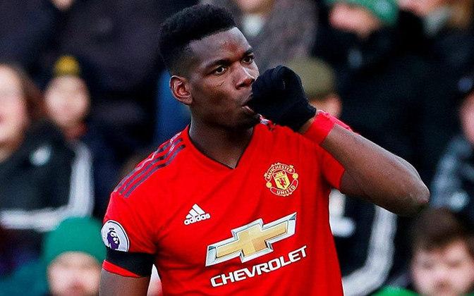 17º PAUL POGBA - clube atual é o Manchester United, com o qual mantém contrato até 30/06/2022. Valor de mercado: € 65 milhões (R$ 416 milhões)