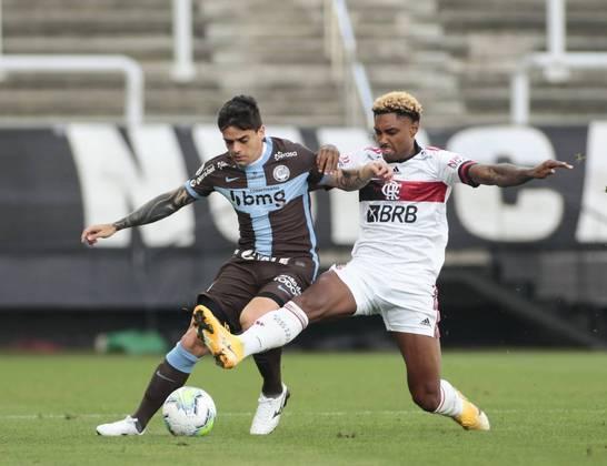 17ª rodada - Corinthians 1 x 5 Flamengo: Cássio; Fagner, Gil, Marllon e Lucas Piton; Xavier e Camacho; Otero, Mateus Vital e Everaldo; Boselli.