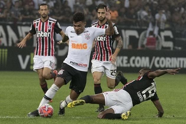 17/2/2019 - Corinthians 2 x 1 São Paulo - Fase de Grupos do Paulistão. Gols: Manoel e Gustagol (COR)/Pablo (SAO)