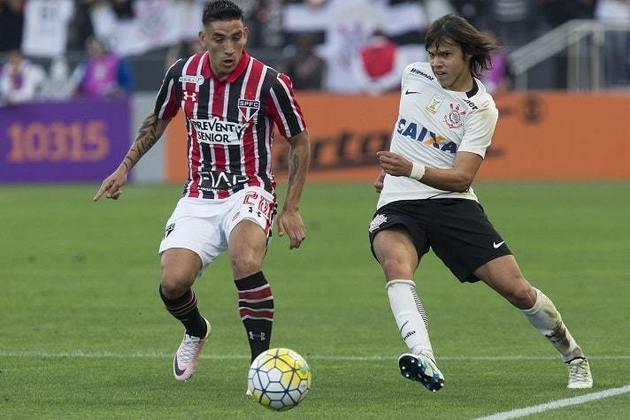 17/7/2016 - Corinthians 1 x 1 São Paulo - 15ª rodada do Brasileirão. Gols: Bruno Henrique (COR)/Cueva (SAO)