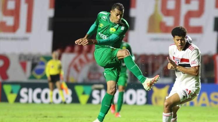 18º colocado – Cuiabá (5 pontos) – 8 jogos / 0.17% de chances de título; 5.1% para vaga na Libertadores (G6); 43% de chance de rebaixamento.