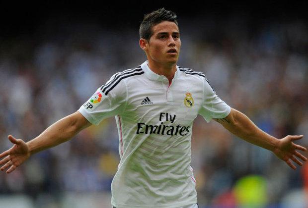 James Rodríguez - Mônaco para o Real Madridem 2014 - € 80 milhões