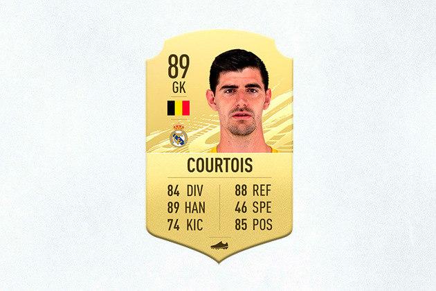 18- Thibaut Courtois (Real Madrid) - 89 de Overall - Melhor goleiro do Campeonato Espanhol na última temporada, Courtois teve upgrade de um overall em relação ao ano passado