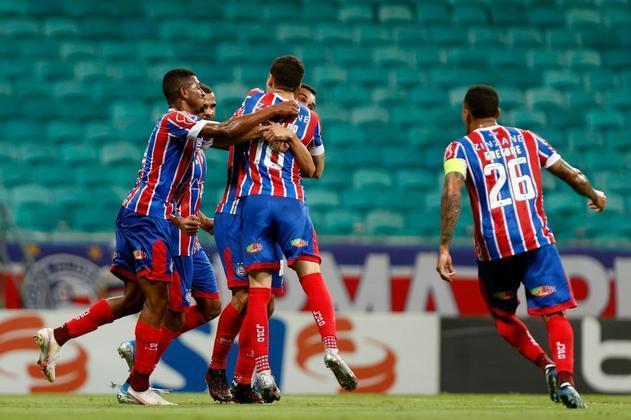 19º - Bahia: 11 pontos - duas vitórias - cinco empates - 10 derrotas - 16 gols feitos - 32 gols sofridos.