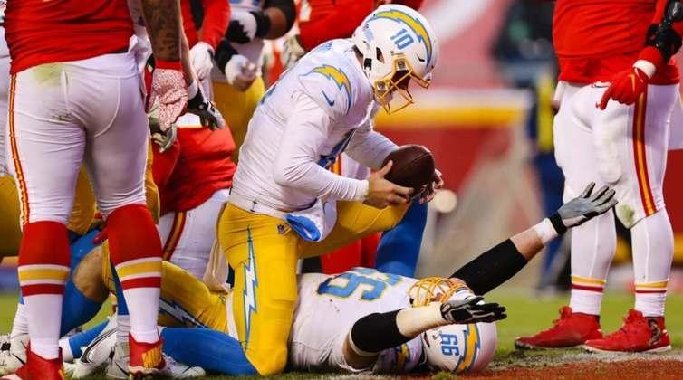 19º Los Angeles Chargers (7-9): Justin Herbert é o quarterback do futuro e terá à sua disposição bastante talento para ajudá-lo a vencer na Califórnia.