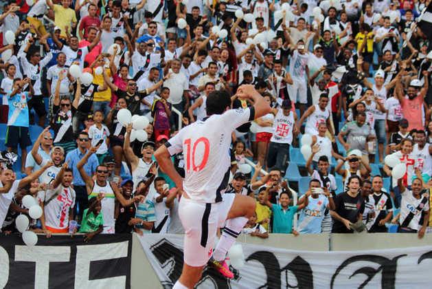 19º - Sampaio Corrêa 0x4 Vasco - Série B 2016 - Em rápida jogada de contra-ataque, Riascos tentou encobrir o goleiro Rafael e a bola sobrou para Nenê marcar o seu hat-trick