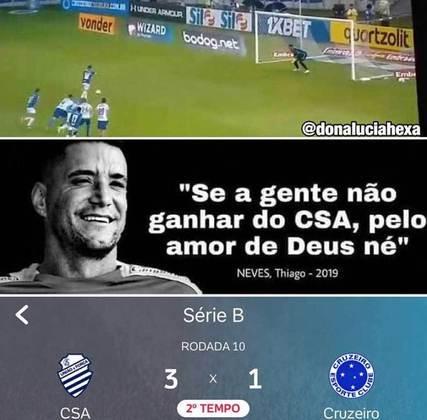 19.09.20 - Cruzeiro é derrotado pelo o CSA (time citado no famoso áudio do Thiago Neves) por 3 a 1.