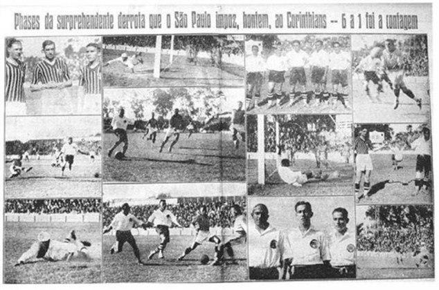 1933 - São Paulo 6 x 1 Corinthians - A maior goleada do Tricolor em Majestosos foi no campo da Floresta, em partida válida para o Paulista e o Rio-São Paulo de 1933. Waldemar de Brito, Armandinho, Luizinho (3) e Hércules fizeram os gols.