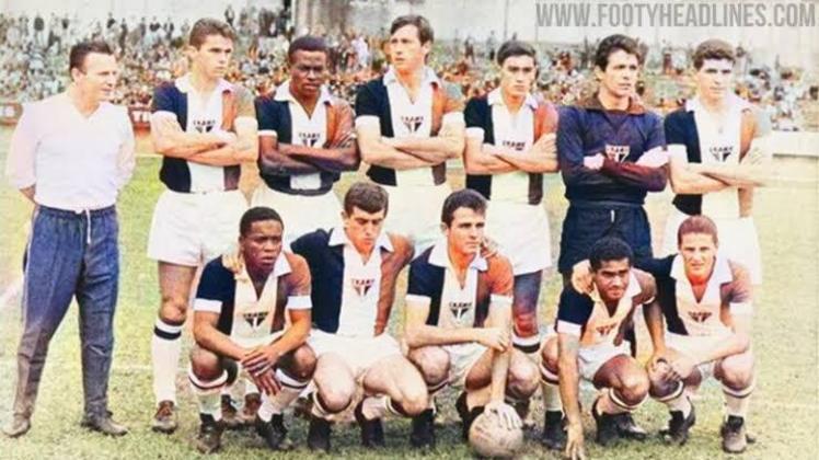 1966 - Após 22 anos de uma terceira camisa, o São Paulo voltou a utilizar uma camisa alternativa, com listras pretas, brancas e vermelhas, remetendo as cores do clube.