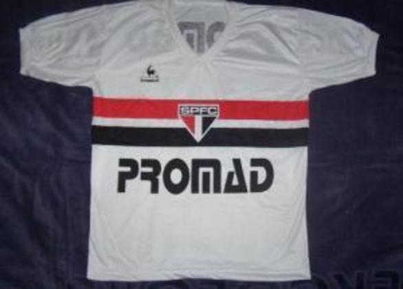 1984 - Promad - A assessoria jurídica também foi patrocinadora do São Paulo no ano de 1984.
