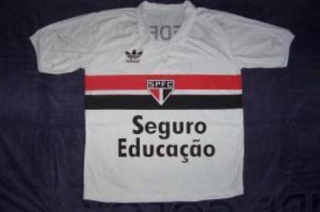 1986 - Seguro Educação - Em 86, ainda sob a parceira com a Cruzeiro Seguros, foi estampada a marca Seguro Educação.