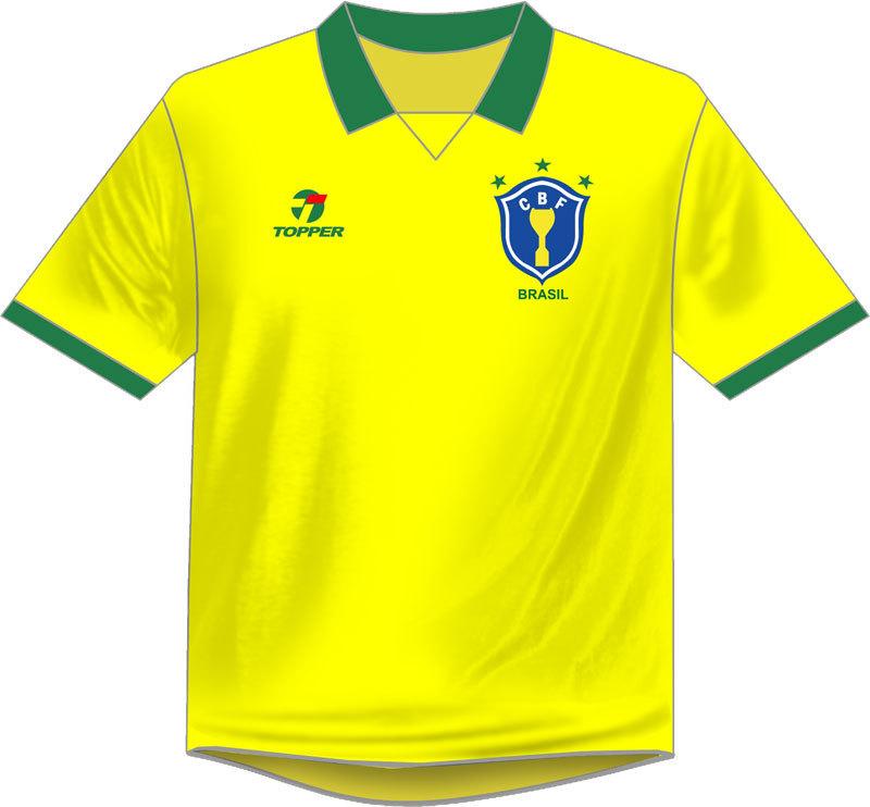 7b46e893a0 Veja todas as camisas utilizadas pelo Brasil em Copas do Mundo - Fotos - R7  Copa 2018