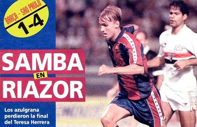 1992 - São Paulo 4 x 1 Barcelona - Em agosto de 1992, já campeão da Libertadores, o São Paulo de Telê Santana passou por cima do Barça de Cruyff no Troféu Tereza Herrera, em La Coruña. Gols de Muller, Maurício e Raí (2), em um aperitivo do que viria no Mundial em Tóquio.