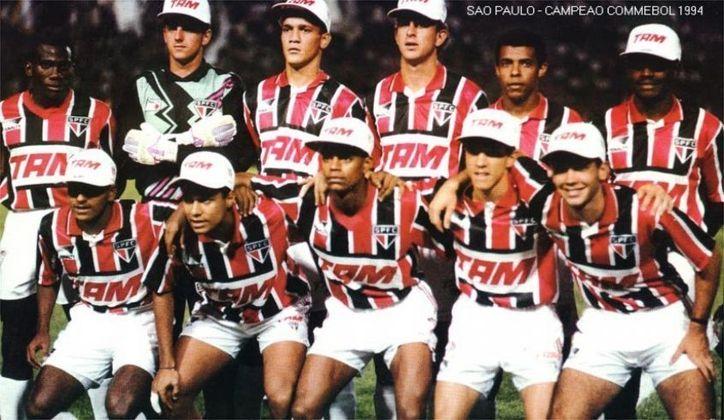 1993 a 1996 – TAM Linhas Aéreas - A empresa patrocinou o São Paulo por três anos, sendo parte do uniforme que conquistou o Mundial de 93.