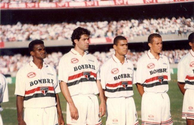 1997 a 1998 - Bombril - A empresa de produtos de limpeza patrocinou o Tricolor nas duas temporadas. A marca foi máster na camisa durante a conquista do Tricolor no Paulistão de 1998.